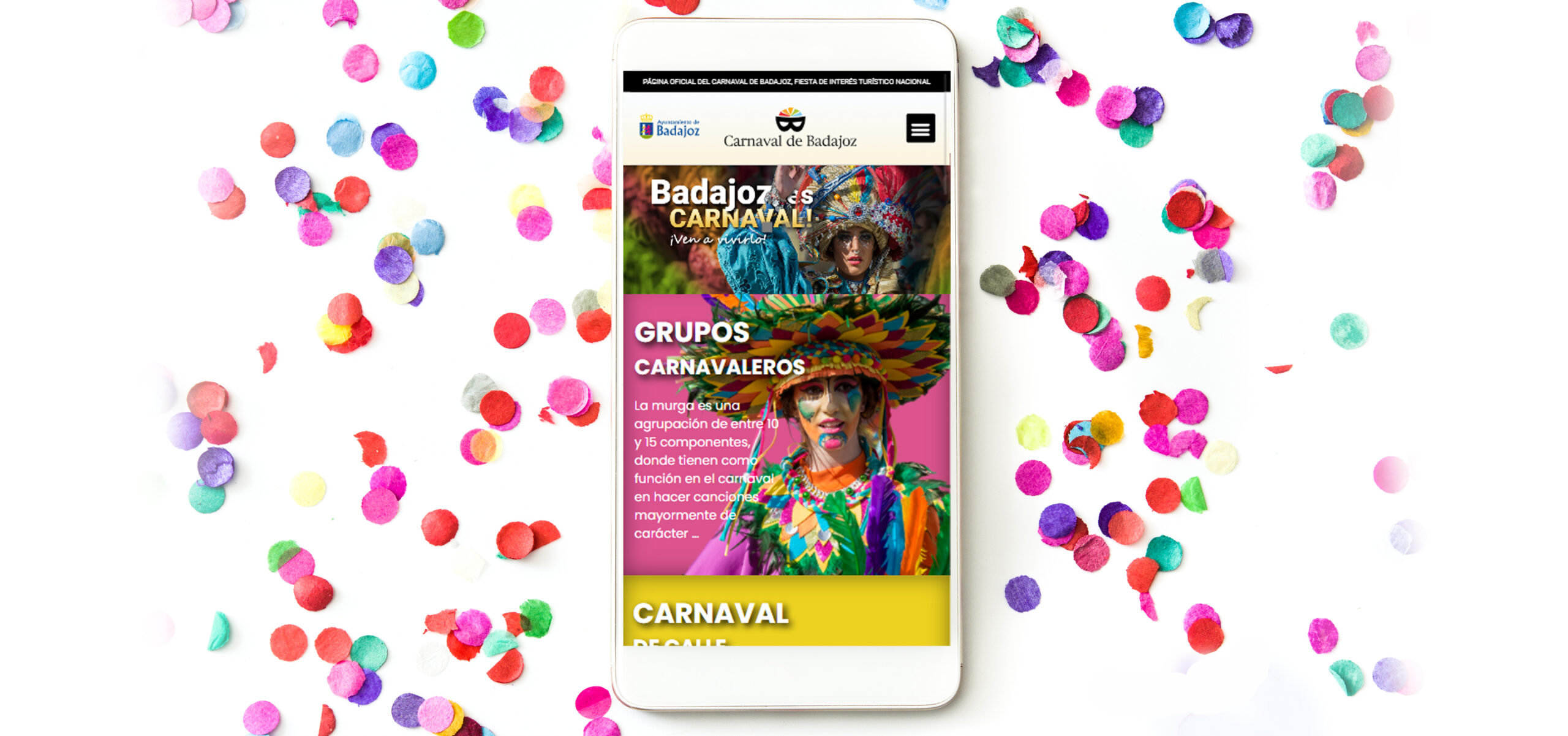 New official website of the Badajoz Carnival
